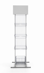 Empty rack for promotional products