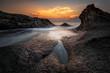 Sea sunrise at the Black Sea coast, Bulgaria