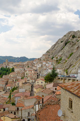 Pietrapertosa small village between mountains, Basilicata