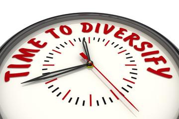 Время диверсификации (time to diversify). Часы с надписью