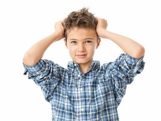 Frustrated Charming Teenage Boy