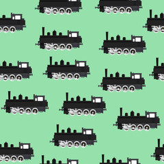 Pattern with locomotives