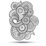Henna Paisley Mehndi Doodles Design Element. - 73215250