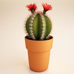 Cactus plant 3d illustration