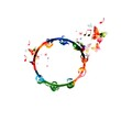 Colorful tambourine design - 73216012