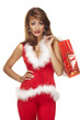 Santa helper on white background