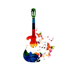 Colorful guitar design
