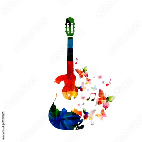 Colorful guitar design - 73216005