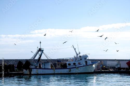 canvas print picture Fischerhafen in Andalusien - Spanien