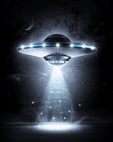 UFO in dark night - 73216846