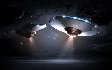 UFO in dark night