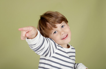 Happy Laughing Child Pointing