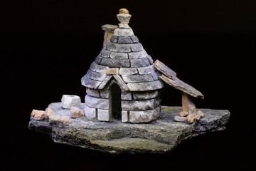 trullo model of an ancient italian abitation