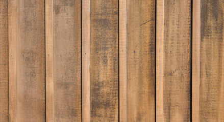 Weathered wooden vertical siding