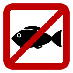 Sign of prohibited fishing