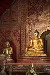 Antique bronze buddha in Chiangmai