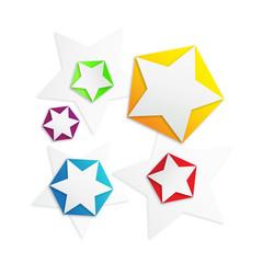 star shapes textbox vector