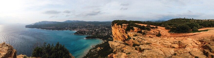 coastline panorama of Route of the Ridges in cassis france