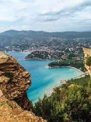 scenic view from route of the ridges near cassis france