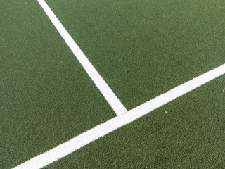 Corner marking on soccer field
