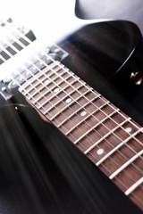 Electric guitar, close up