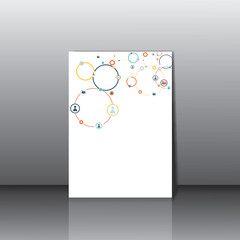 Human concept on the card