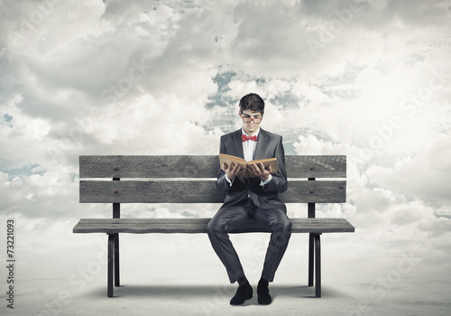 canvas print picture Man with book