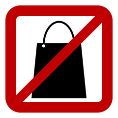No shopping bag sign