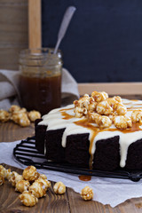 Chocolate ginger pear cake with cream cheese glaze