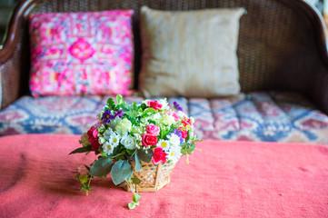 Decorative flowers in wedding