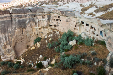 Unusual landscape in Cappadocia