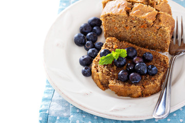 Vegan healthy apple carrot sweet bread