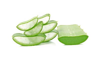 Fresh cut Aloe Vera slices