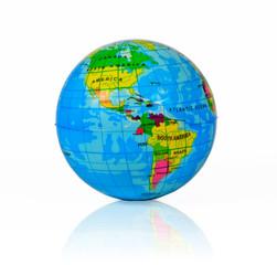 Globe of the World on white