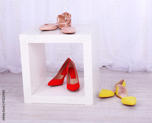 canvas print picture Women shoes on floor in room