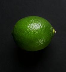 Lime on black background