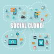Social Cloud with Speech bubbles