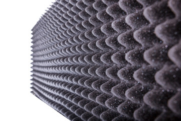 microfiber insulation for noise in music studio or acoustic hall