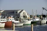Fototapety fishing boats in bay harbor marina Montauk New York USA the Hamp