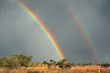 Rainbow landscape, Kalahari desert