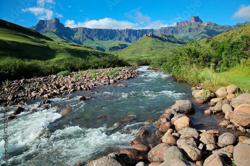 Fotobehang Zuid Afrika Drakensberg mountains, Royal Natal National Park