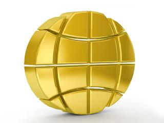 gold globe symbol