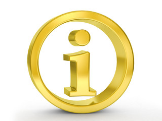gold info symbol