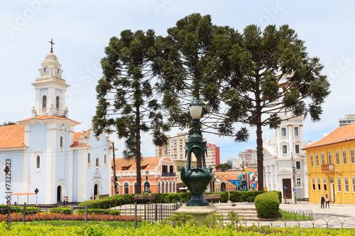 Centrum miasta Curitiba, stan Parana, Brazylia