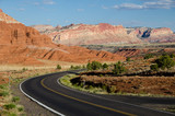 Winding road in Capitol Reef national park