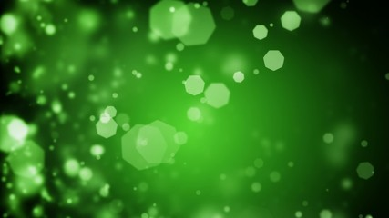 Abstract dark green Christmas background bokeh defocused lights