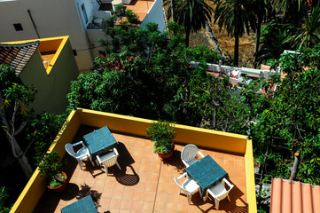 Aerial View of a Private Terrace