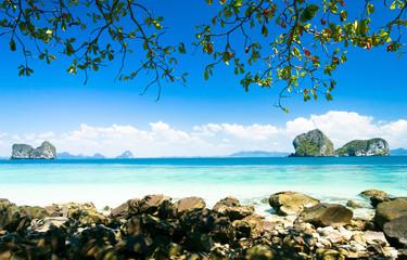 Romantic Island Sea Scene