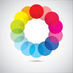 Modern colorful geometrical circles