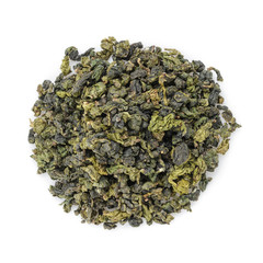 oolong green tea heap from above